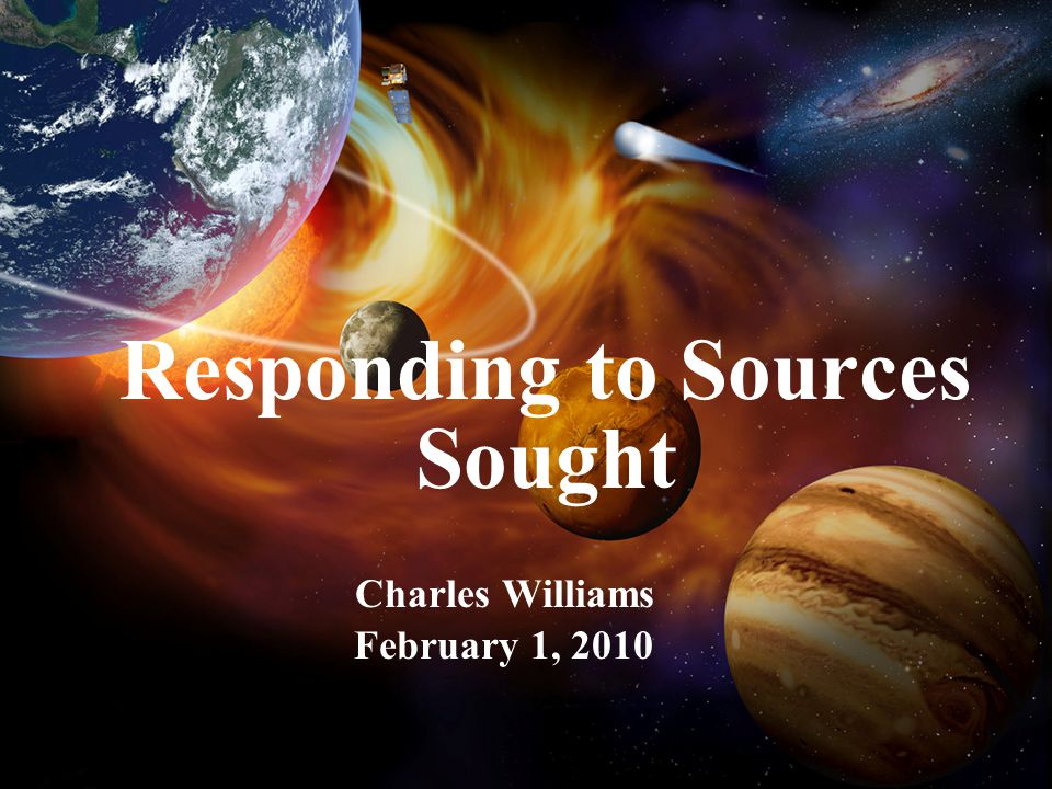 2 Purpose of Meeting Better responses to Sources Sought request How can we improve the Sources Sought process Opportunity for YOU to ask questions
