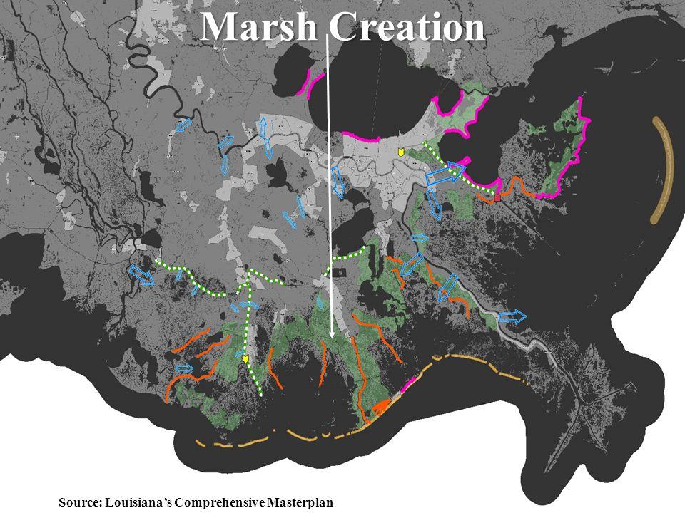 31 Marsh Creation Source: Louisiana's Comprehensive Masterplan