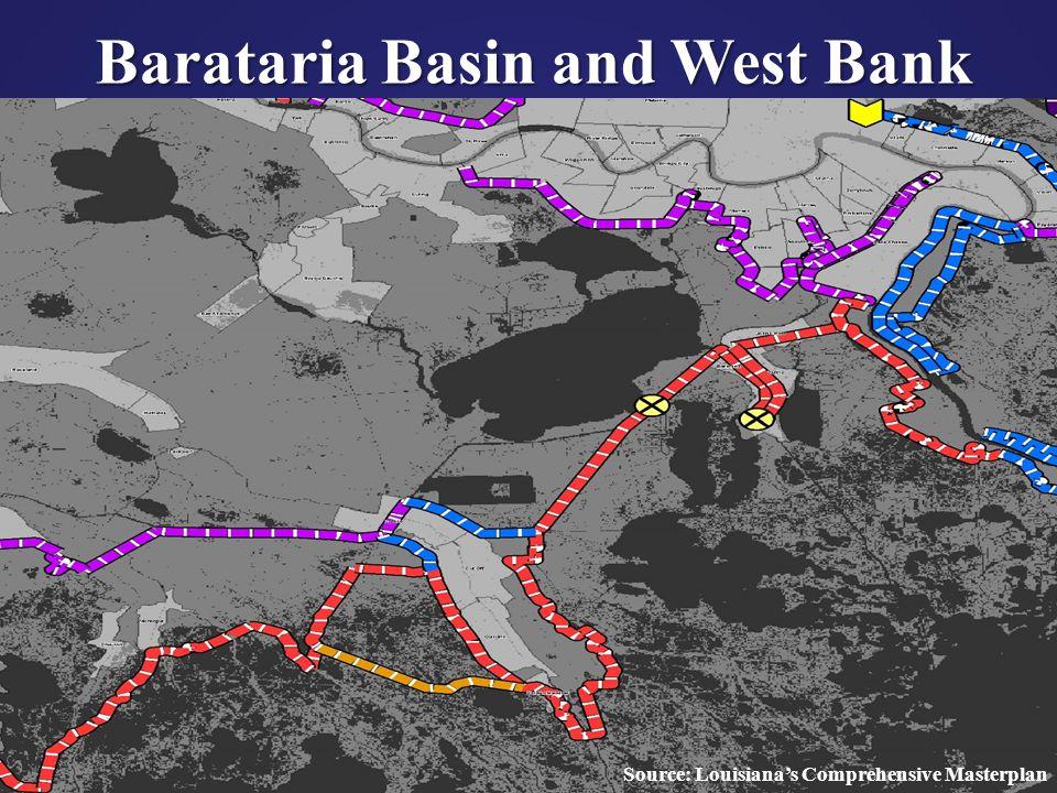 41 Barataria Basin and West Bank Source: Louisiana's Comprehensive Masterplan