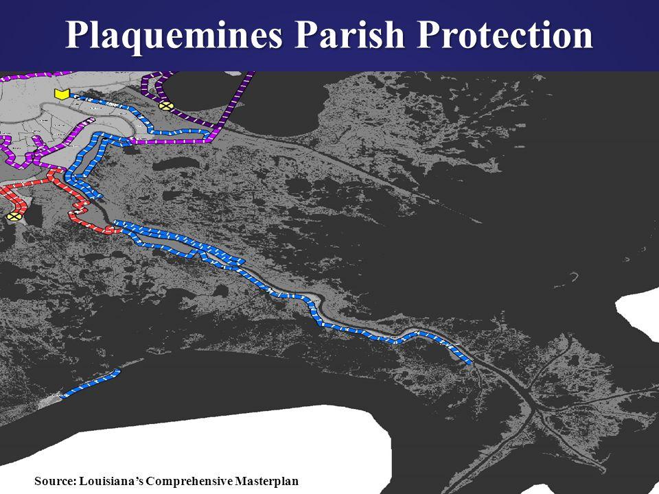 42 Plaquemines Parish Protection Source: Louisiana's Comprehensive Masterplan