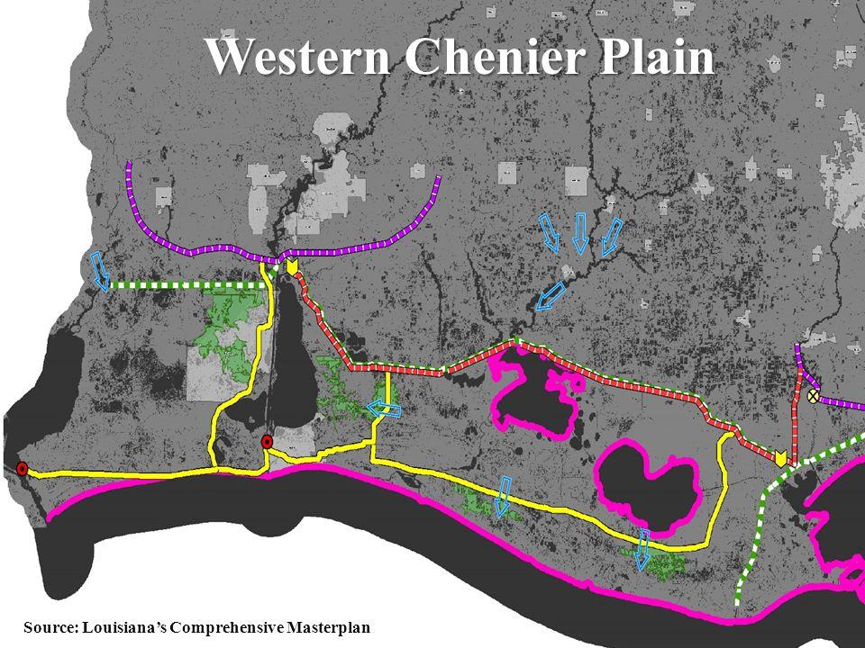 56 Western Chenier Plain Source: Louisiana's Comprehensive Masterplan