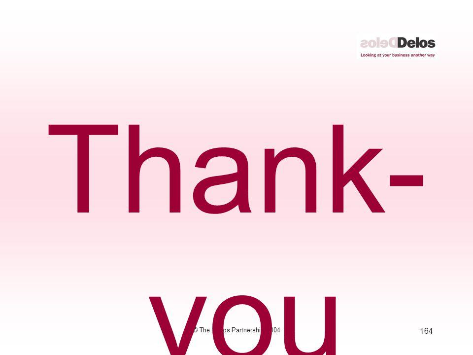 164 © The Delos Partnership 2004 Thank- you
