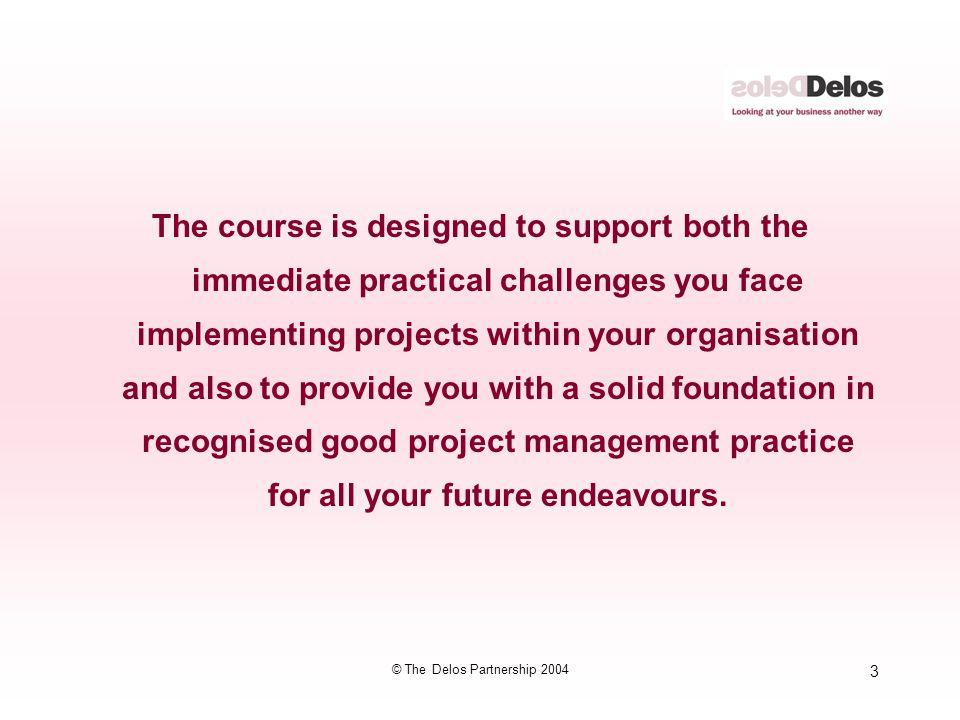 134 © The Delos Partnership 2004 Case Study Breakout Session 6