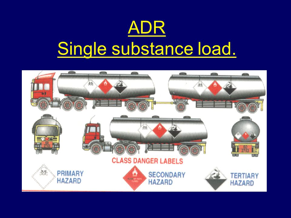 ADR Single substance load.