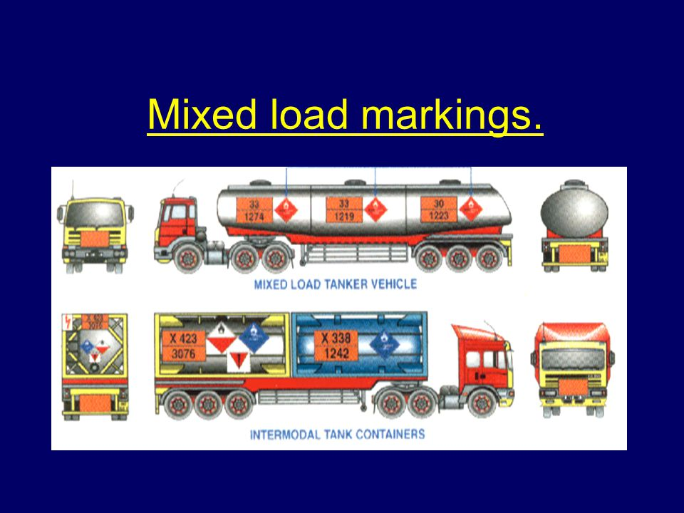 Mixed load markings.