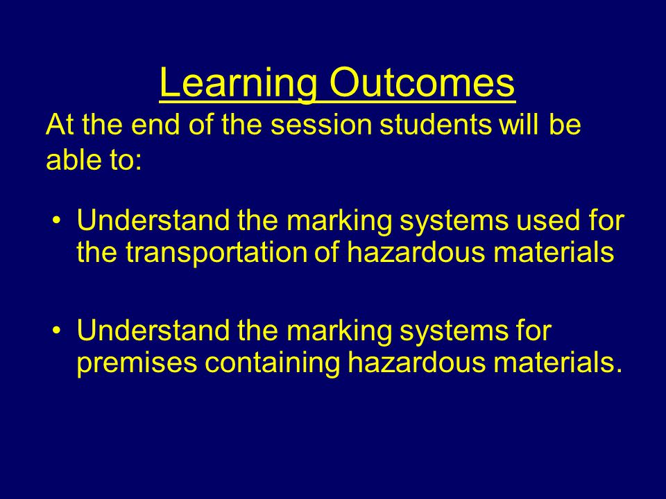 Introduction The range of substances which may face personnel is immense and can be found in many different forms, presenting a variety of hazards It is important therefore that personnel are able to understand and use any marking system present to identify and gain information on the substances involved.