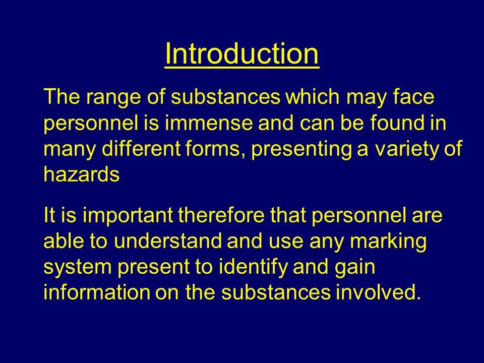 Categories of hazard Solid Liquid Gas Vapour Crystals Fumes.