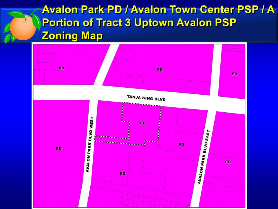 Avalon Park PD / Avalon Town Center PSP / A Portion of Tract 3 Uptown Avalon PSP Future Land Use Map Avalon Park PD / Avalon Town Center PSP / A Portion of Tract 3 Uptown Avalon PSP Future Land Use Map