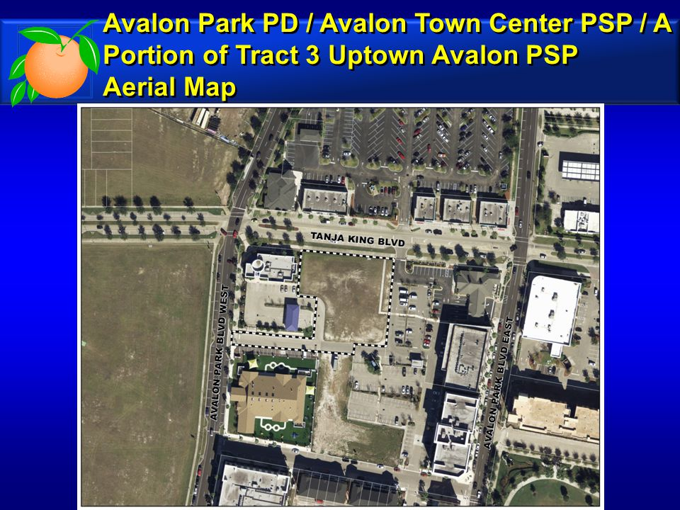 Avalon Park PD / Avalon Town Center PSP / A Portion of Tract 3 Uptown Avalon PSP