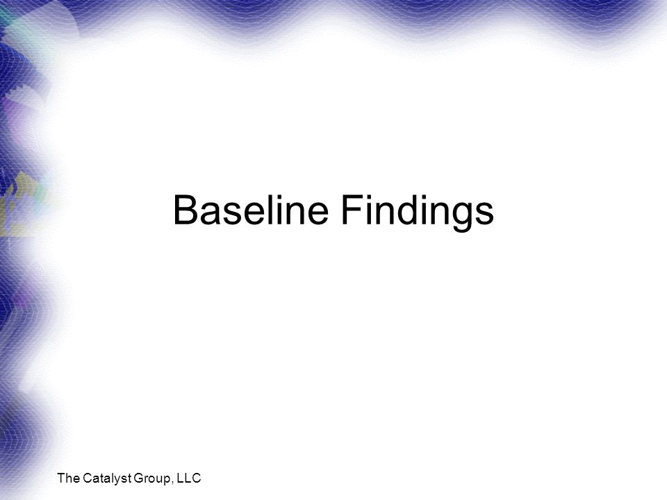 The Catalyst Group, LLC Baseline Findings