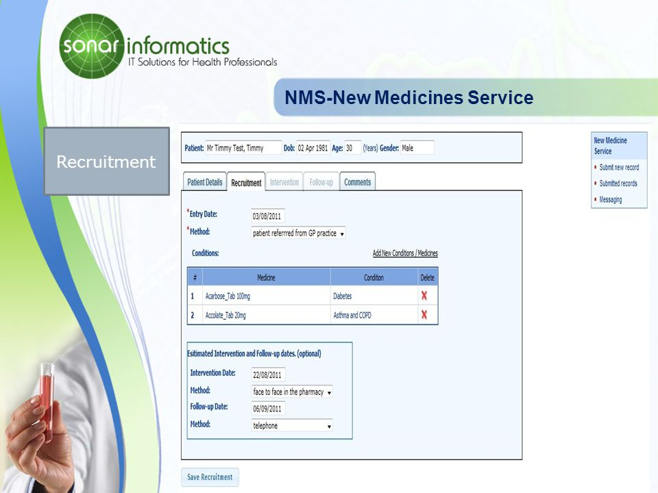 NMS-New Medicines Service Patient Profile