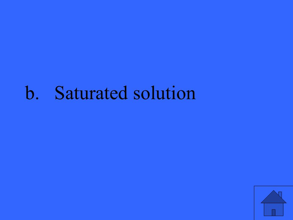 b.Saturated solution