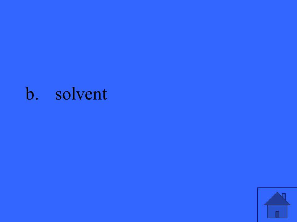 b.solvent