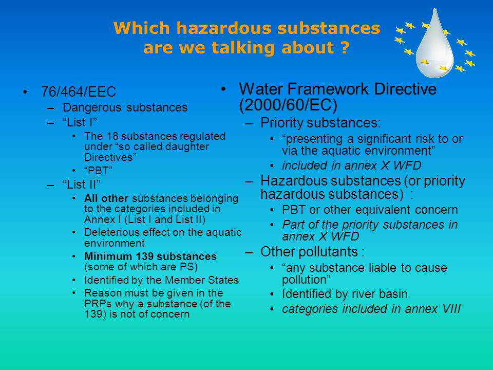 Which hazardous substances are we talking about .