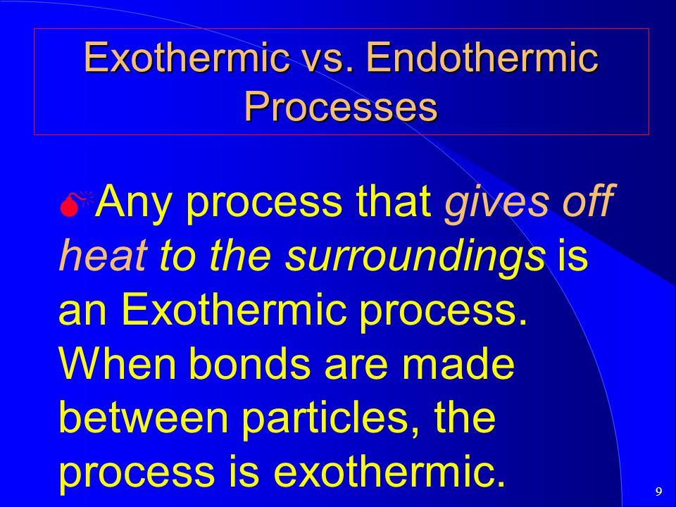 9 Exothermic vs.