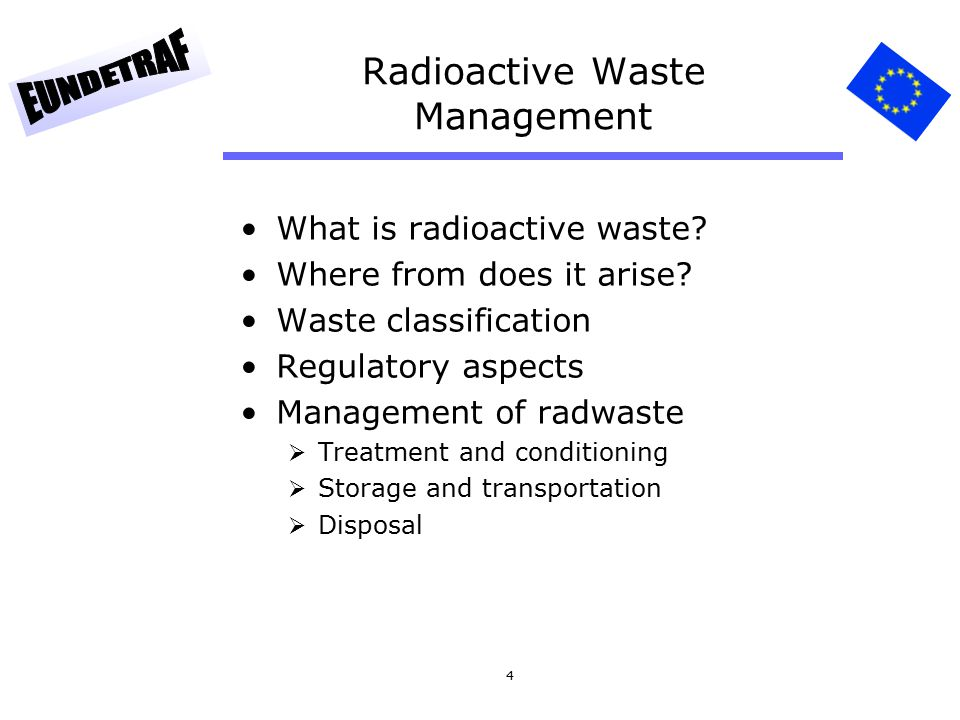 4 Radioactive Waste Management What is radioactive waste.