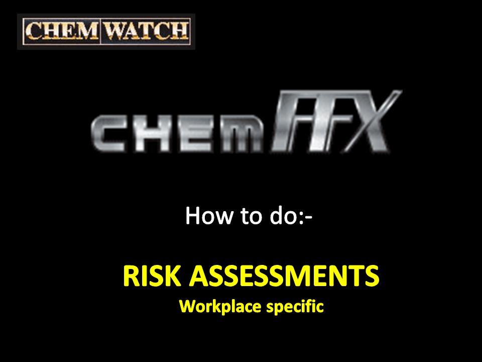 ChemFFX - Risk Assessment NOTE: from choices already made, the 'system' has selected PPE RECS Personal Protective Equipment is required on this Risk Assessment Click on the PPE RECS Red button to view the options chosen and add extra, if required