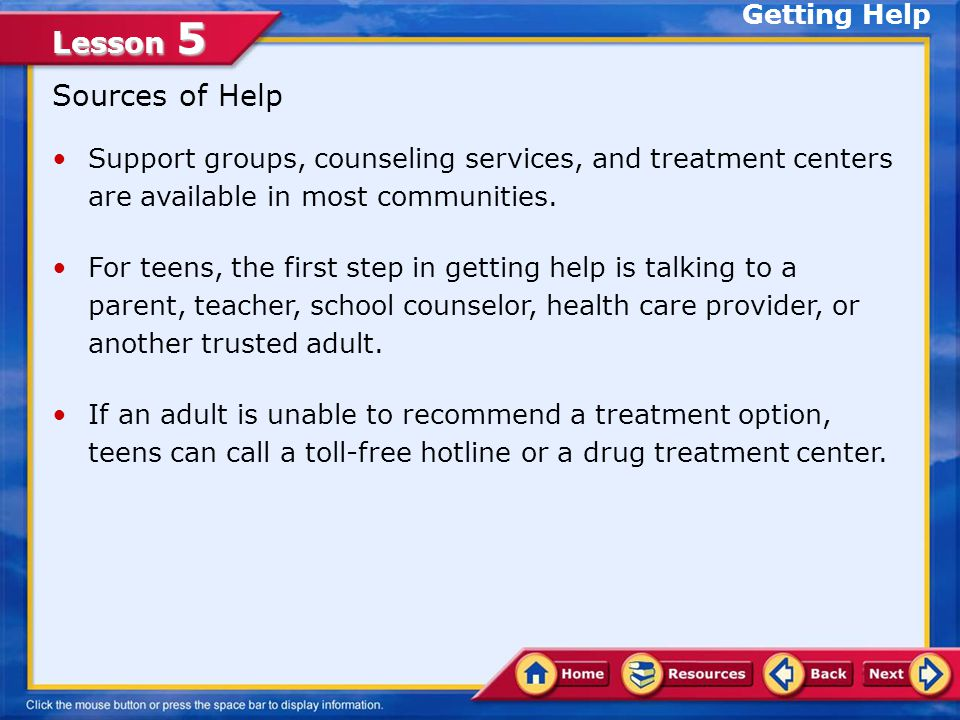 Lesson 5 How Can You Help People Become Drug Free.
