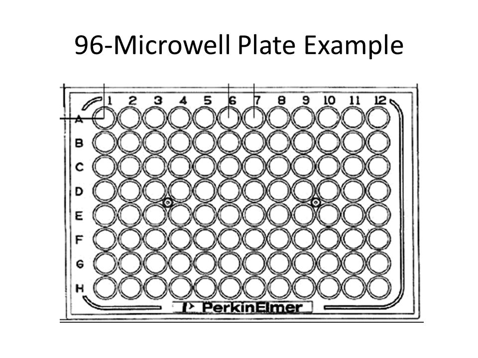 96-Microwell Plate Example