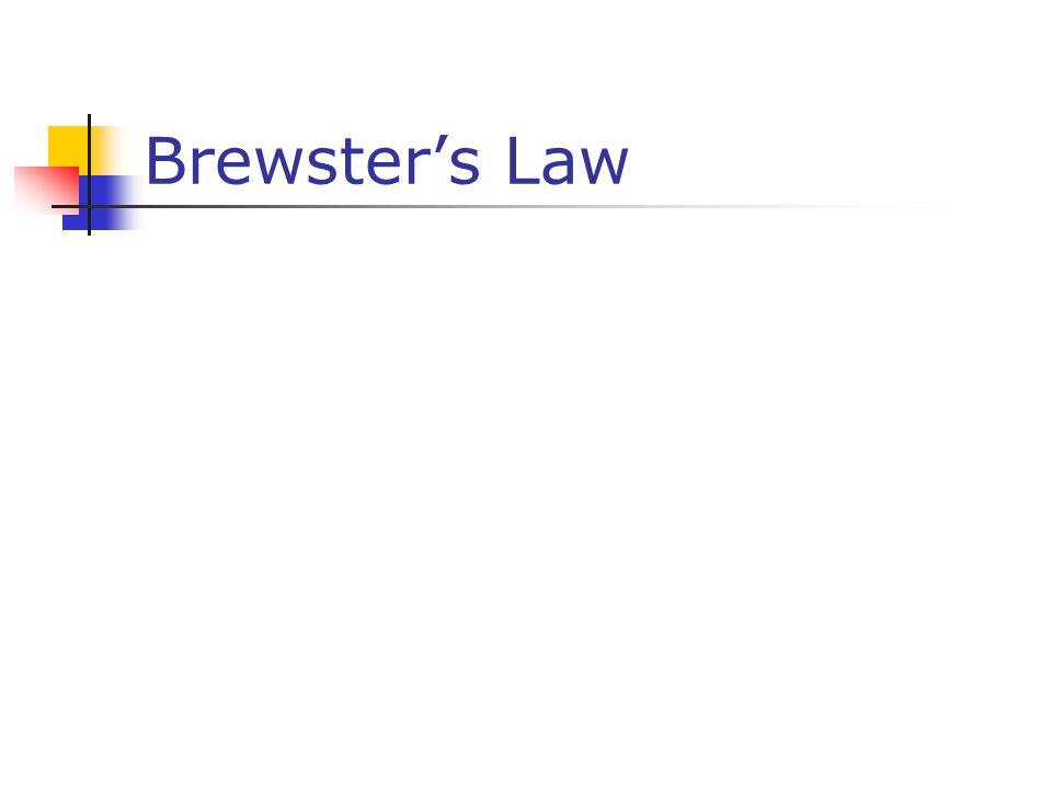 Brewster's Law