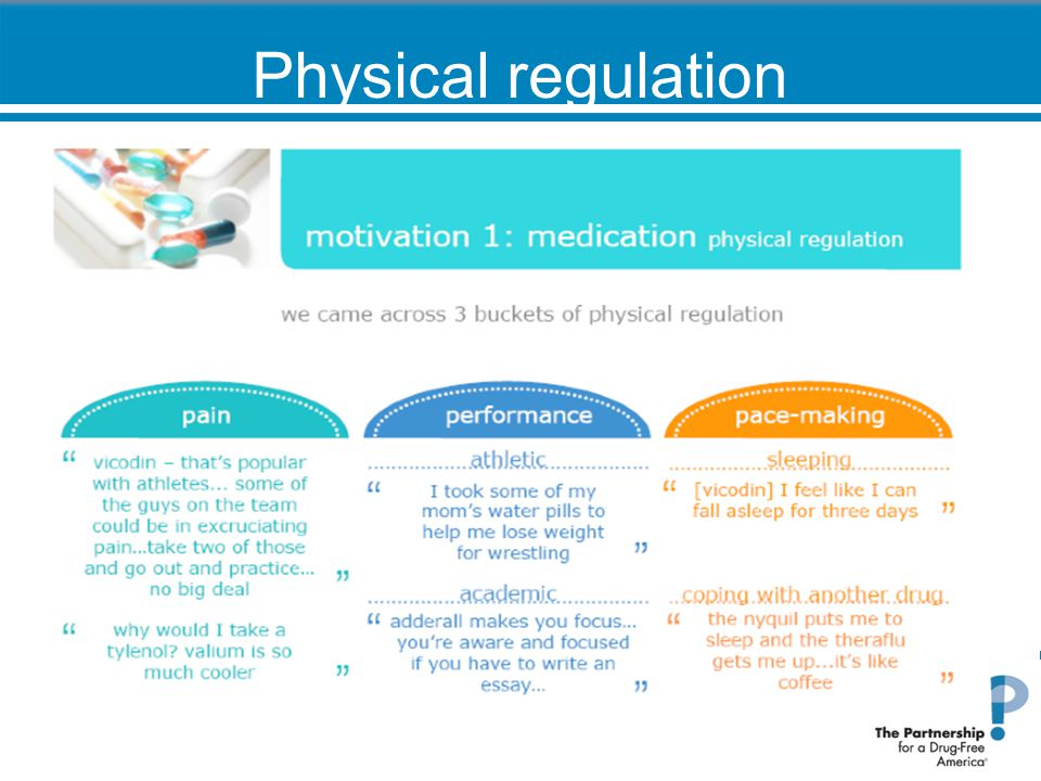 Physical regulation