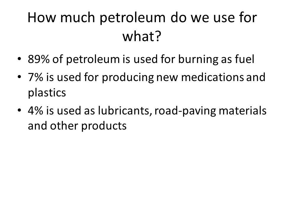 What happens when petroleum is burned.