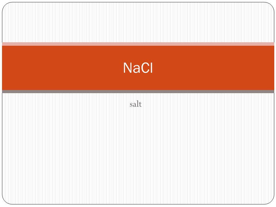 salt NaCl