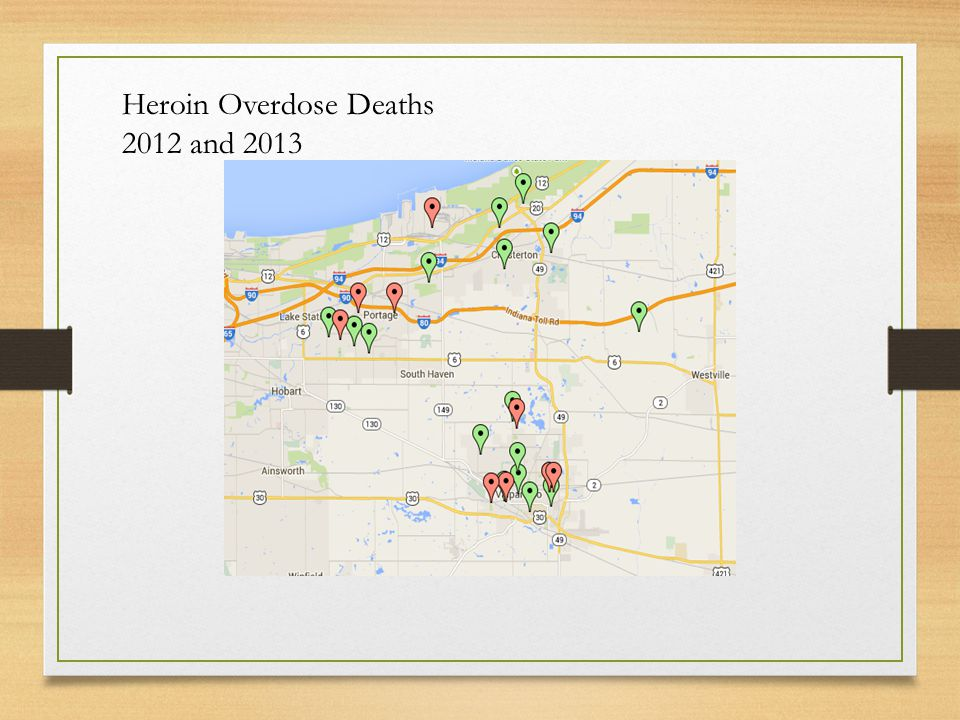 Heroin Overdose Deaths 2012 and 2013