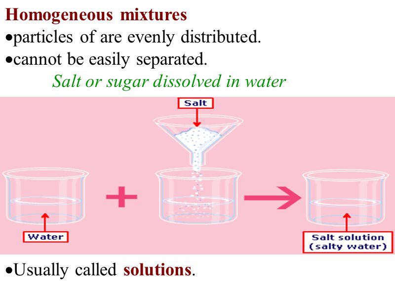 A solution is made up of one or more solutes and a solvent.