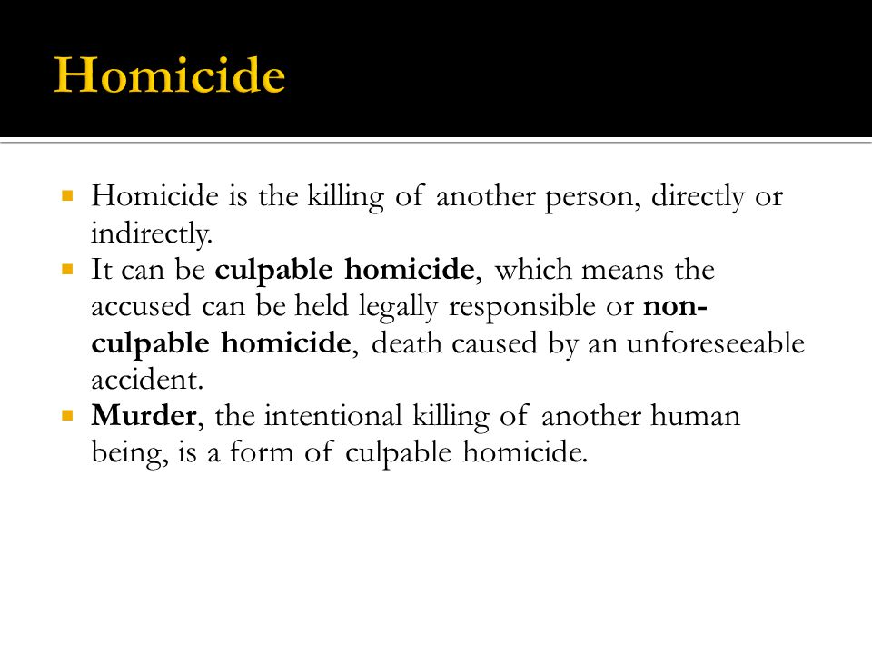 The Criminal Code classifies murder into two categories,  First-degree murder includes a killing that results from any one of the following situations: 1.