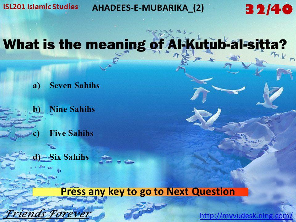 How many books are there in Al-Kutub-al- Sitta.