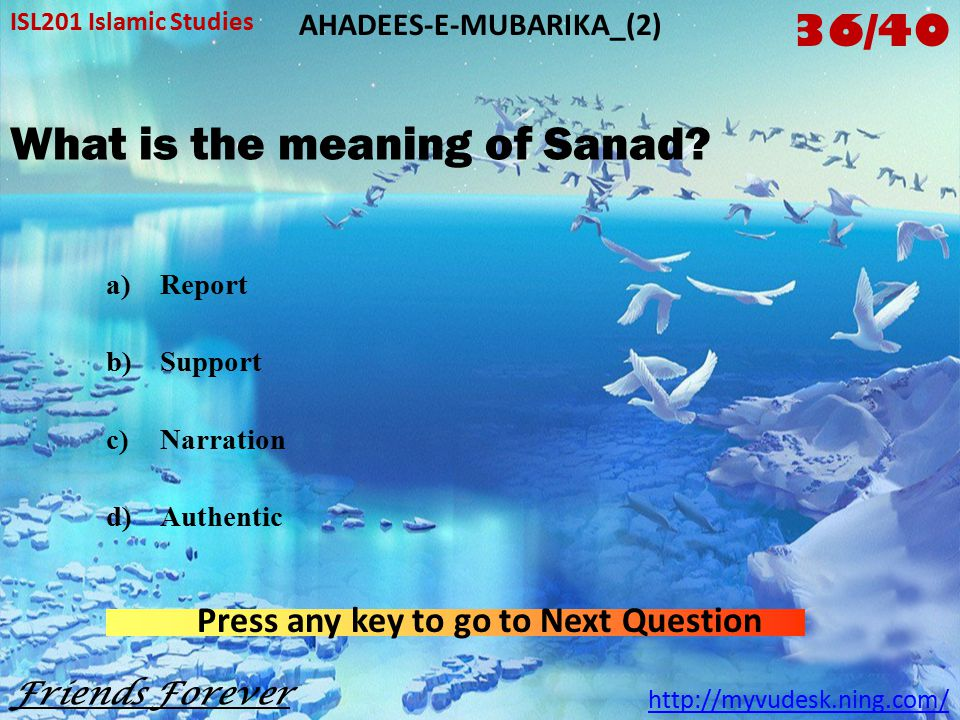 How many parts of each Hadis are there.