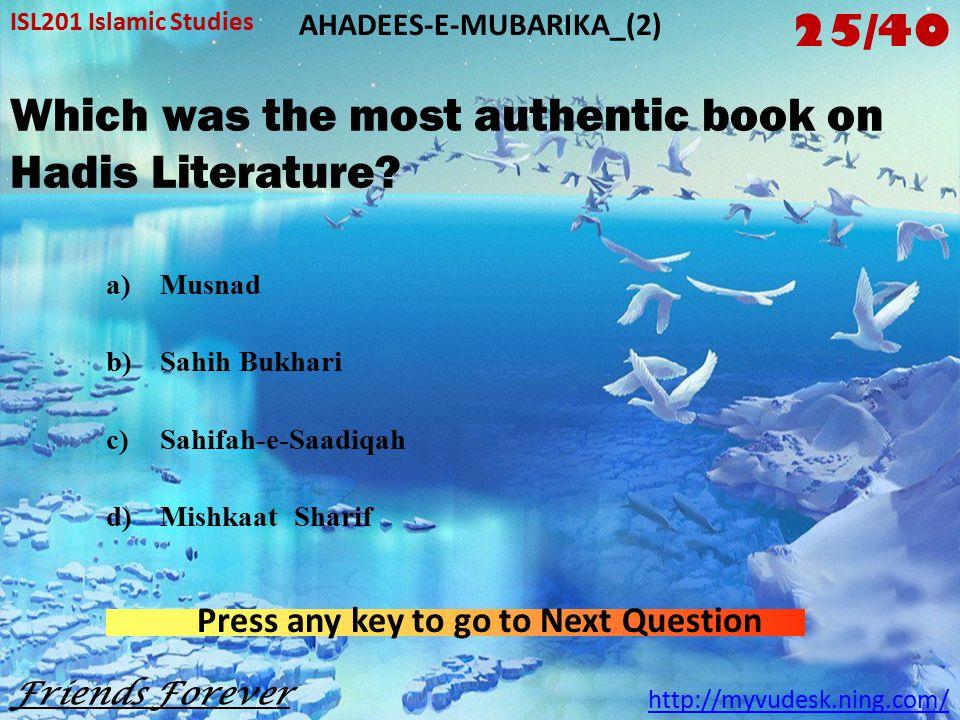 How many Ahadis does the Sahih Bukhari contain.