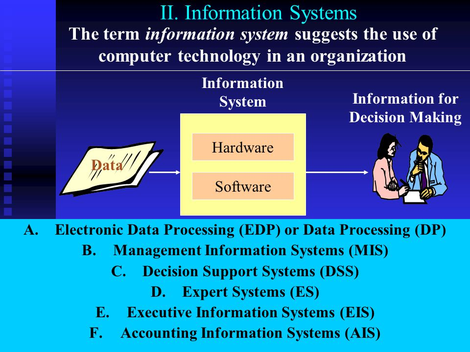 C. Mandatory vs. Discretionary Information Mandatory Information Certain types of information must be generated regardless of the cost:  Government r