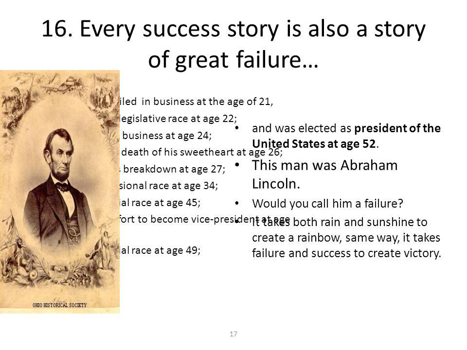 15. Failure….