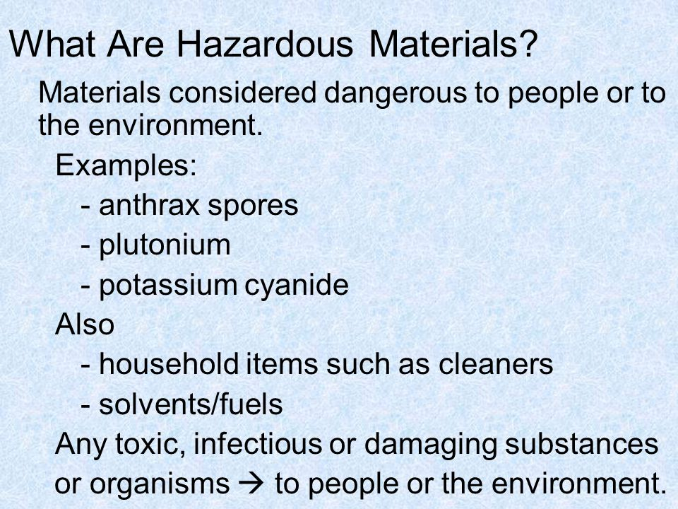 Hazardous Materials and Incident Response Earth and Environmental Science II Lab 8
