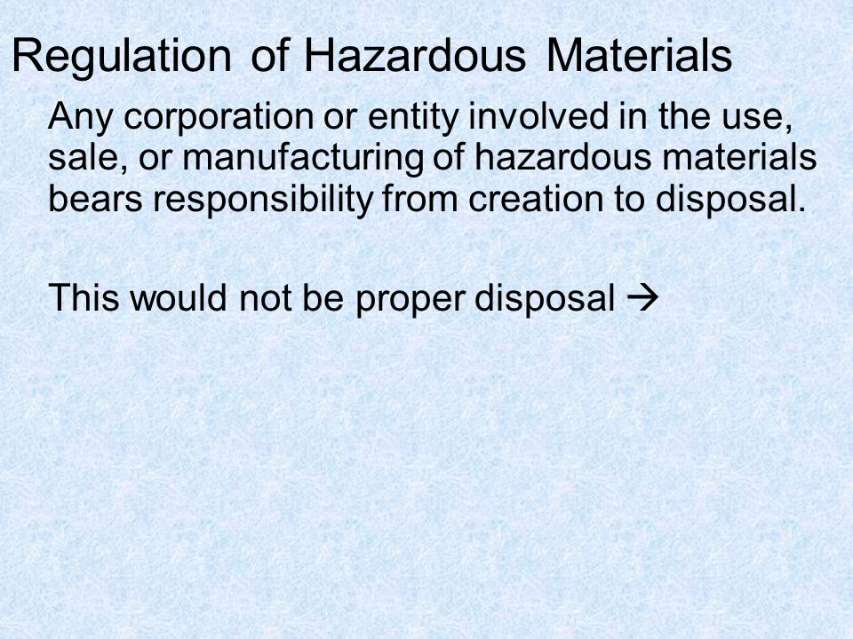 What Are Hazardous Materials.Materials considered dangerous to people or to the environment.