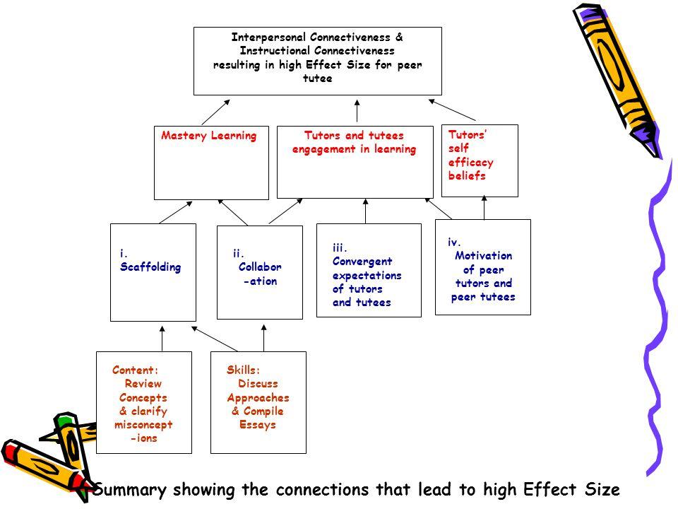 iv. Motivation of peer tutors and peer tutees ii.