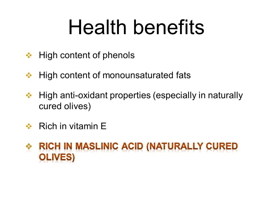 Health benefits