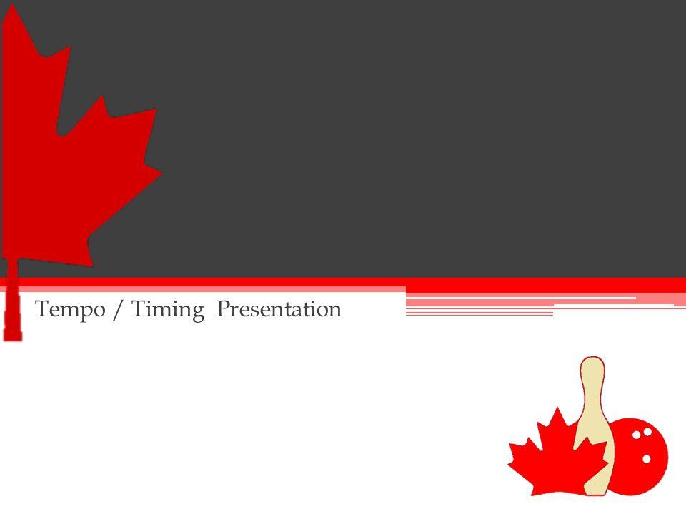 Tempo / Timing Presentation