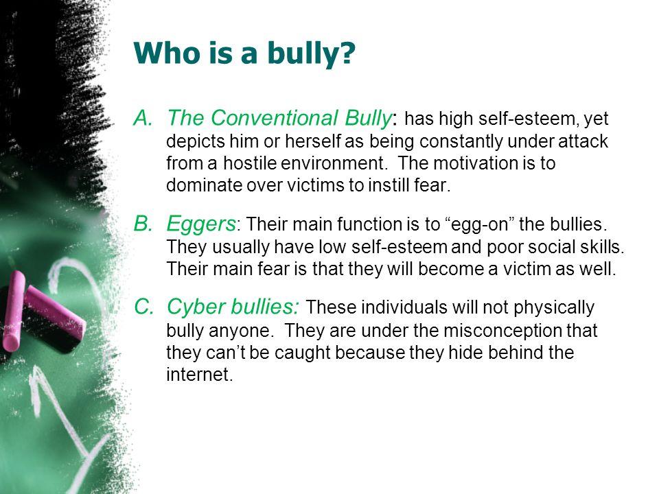 Characteristics of Bullying /Cyberbullying Physical - hitting, shoving, pushing and destroying property.
