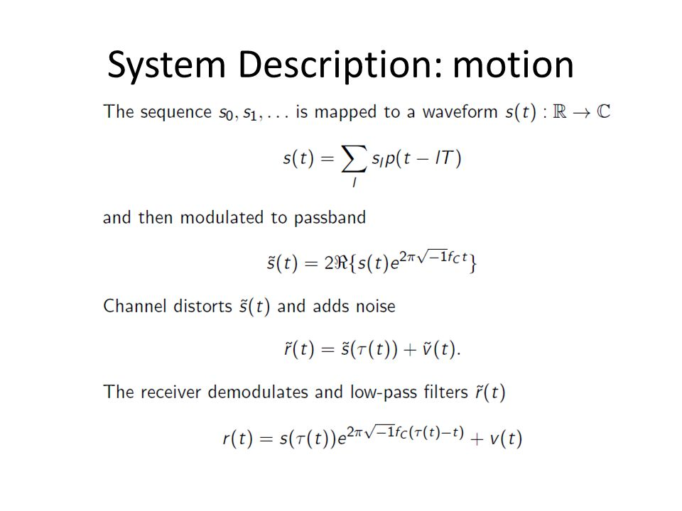 System Description: motion