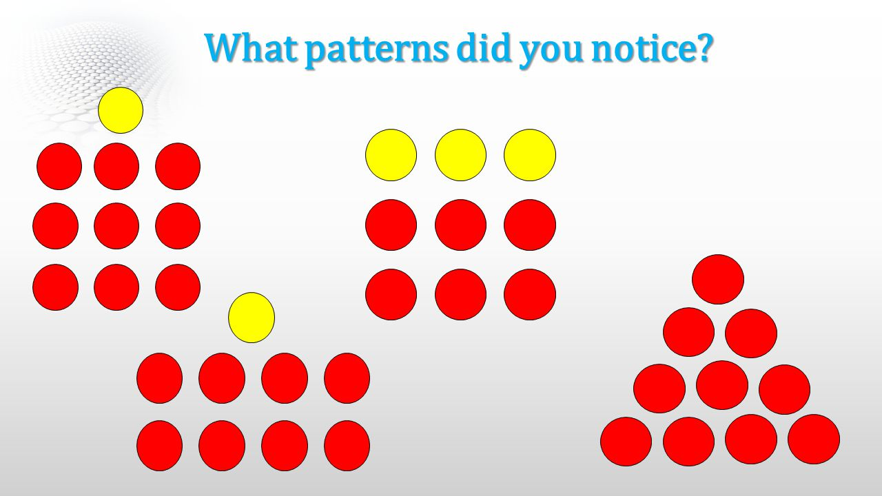 What patterns did you notice