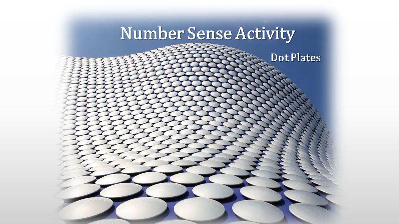 Number Sense Activity Dot Plates