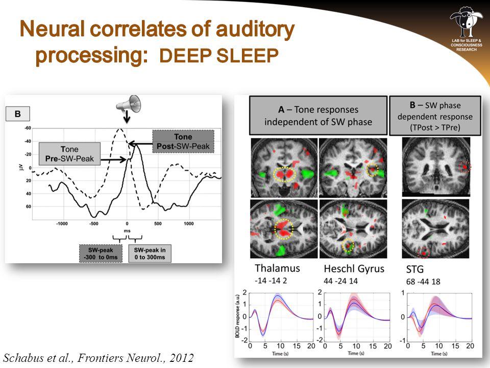 Schabus et al., Frontiers Neurol., 2012