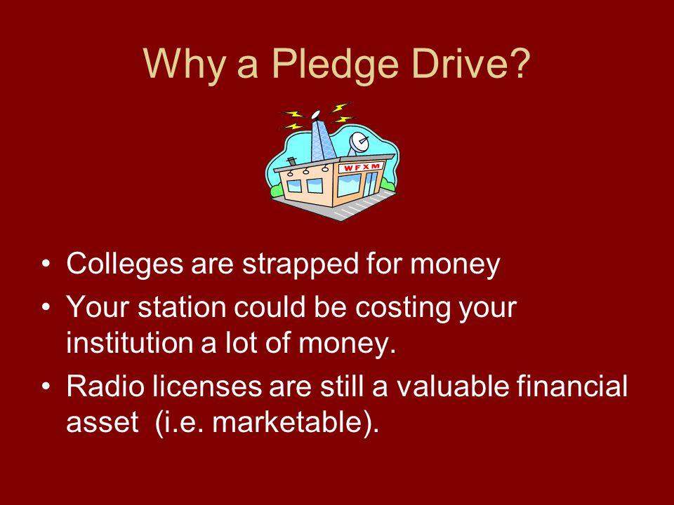 Why a Pledge Drive.