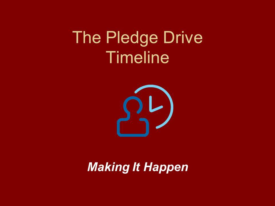 The Pledge Drive Timeline Making It Happen