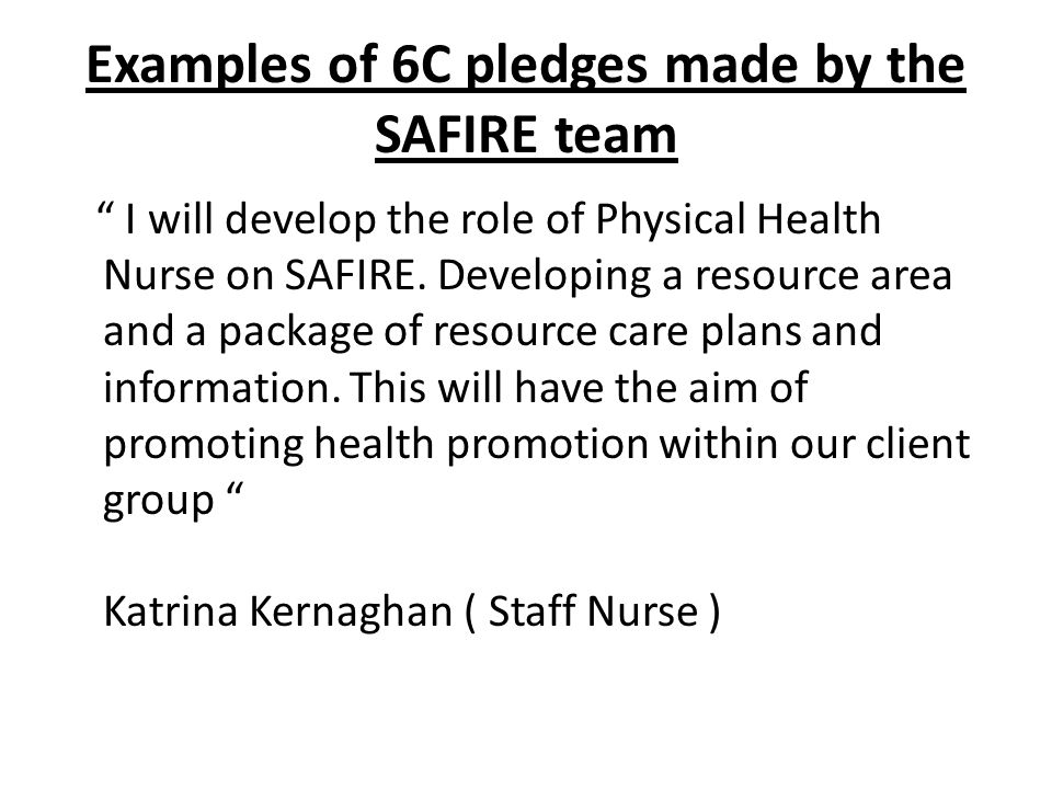 Promoting the physical health of SAFIRE Clients.