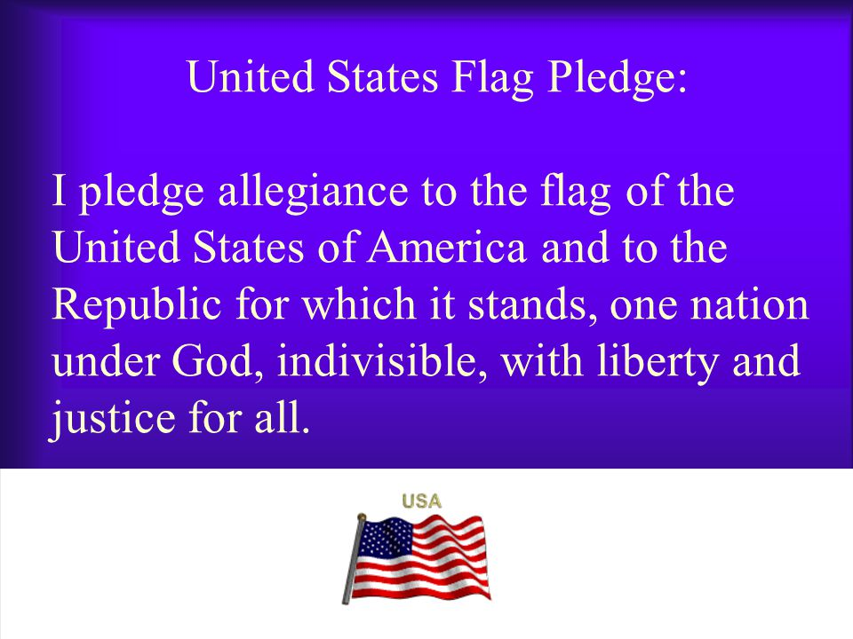 Christian Flag Pledge: I pledge allegiance to the Christian flag, and to the Savior for whose Kingdom it stands, one brotherhood uniting all true Christians in service and in love.