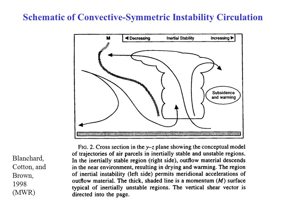 Schematic of Convective-Symmetric Instability Circulation Blanchard, Cotton, and Brown, 1998 (MWR)